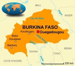Le Burkina Faso... Ouagadougou est assez central
