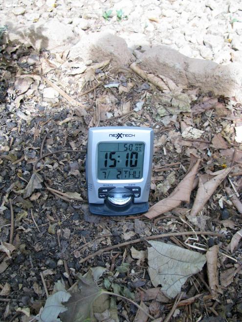 Vendredi 1er mars, à 15h10, il fait 50 degrés... NOON! Et la saison chaude n'est pas encore commencée!