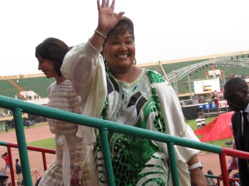 La première dame du Burkina, Chantal Compaoré, marraine du FESPACO.