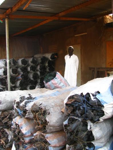 Le commerce du père de famille, la vente de charbon de bois à 6 000 FCFA (12$) le sac